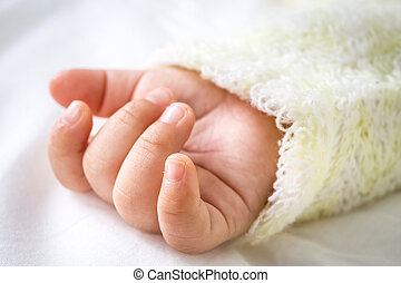 close up of Baby hand