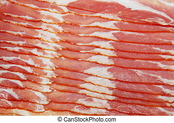 Close-up of bacon, for backgrounds or textures