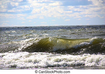 Sea wave - Close up of Baltic Sea wave.