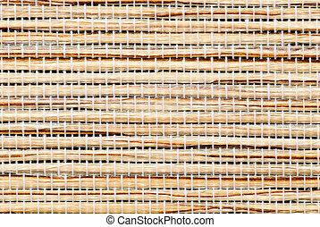 Close up of bamboo mat