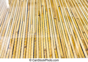 Close-up of bamboo table texture, Japanese and Chinese lifestyle tradition