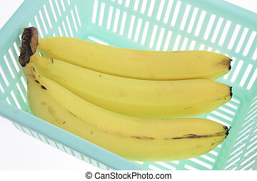 Bananas in Plastic Container