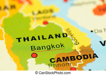 Thailand on map