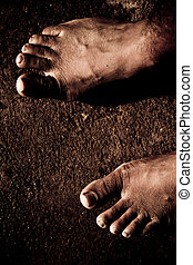 Bare Feet - Close up of Bare Feet