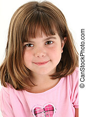 Close Up of Beautiful Five Year Old Girl
