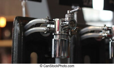 close-up of beer tap without bottles