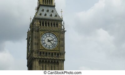 Close-up of Big Ben in London, England.