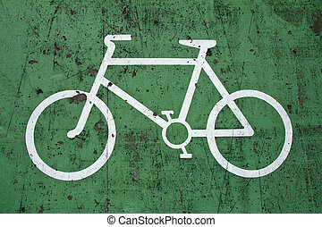 Close up of Bike Lane Sign