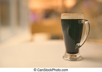 Close-Up Of Black Coffee With Shallow Depth Of Field