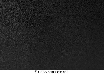 close-up of black leather texture