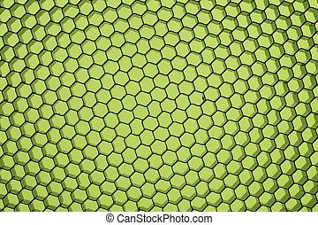 Close up of black net.