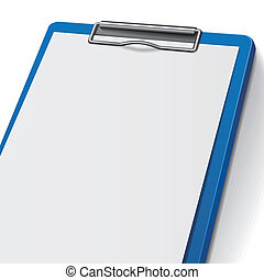 blank clipboard - close-up of blank clipboard isolated on...