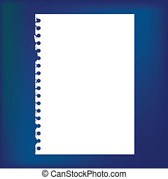 Close up of blank notepad paper - illustration