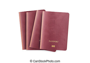 Close up of blank passport isolated