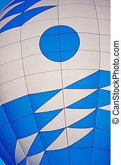 Close Up of Blue and White Balloon