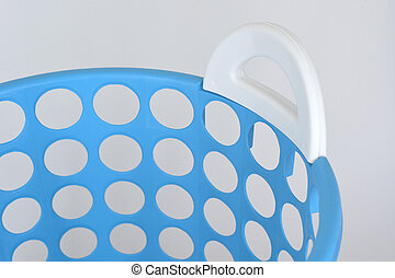 close up of Blue basket isolated on white