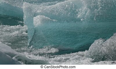 Close-up of blue ice. Andreev.
