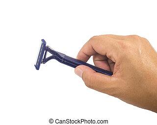 blue shaver
