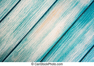 Close-up of blue wooden planks