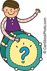 Close-up of boy playing with drum