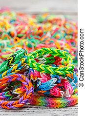 Close up of bracelets