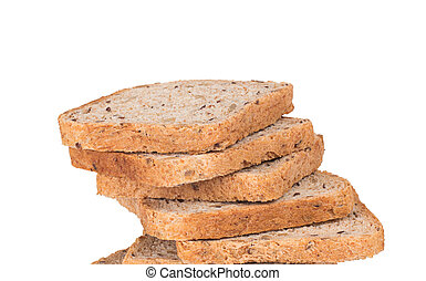 close up of bread slices