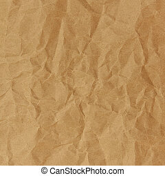 Close up of brown crinkle paper