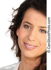 Close-up of brunette