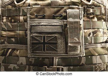 Close up of bulletproof vest - Close up shot of bulletproof...