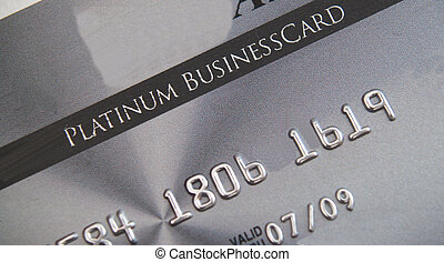 Platinum credit card - Close up of Business executive...