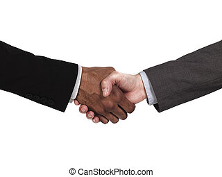 close up of business people shaking hands