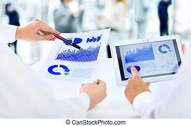 businessman explaining a financial plan