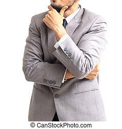 Close up of businessman