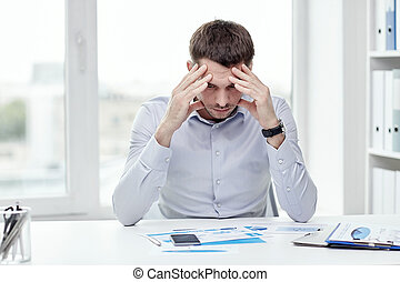 close up of businessman with smartphone
