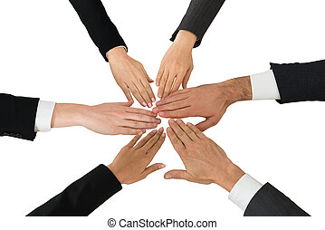 Close-up Of Businesspeople Hands