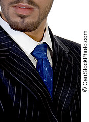 close up of businessperson's tie