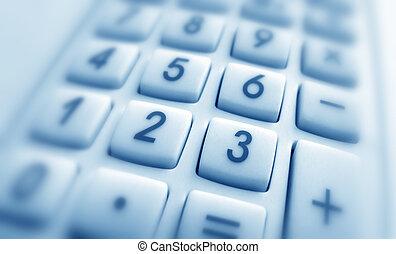 Calculator - Close up of Calculator keypad