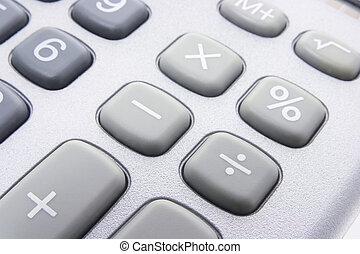 Calculator Keys - Close Up of Calculator Keys