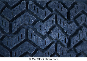 Close up of car tire texture background
