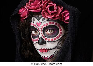 catrina skull look