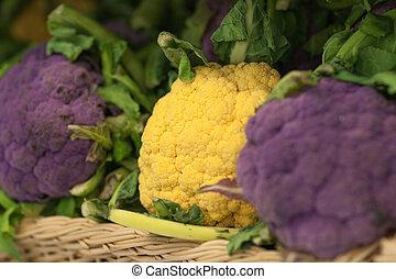 Close up of cauliflower in supermarket