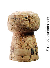 close up of champagne cork