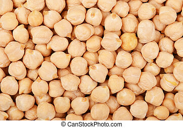 Close up of dried chickpea as background