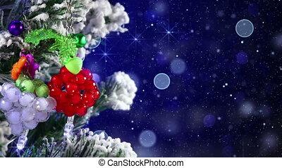 close-up of christmas tree decor