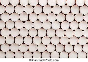 close-up of cigarette fitters background
