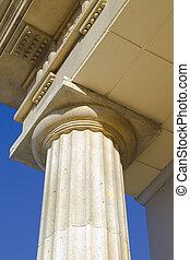 close-up of classic columns