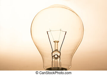 Close up of clear light bulb