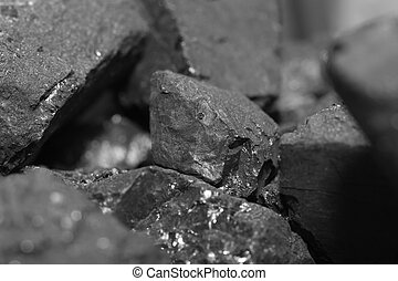Close up of coal pile