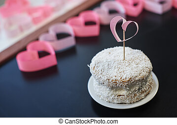 Close up of coconut cake
