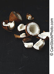 close up of coconut